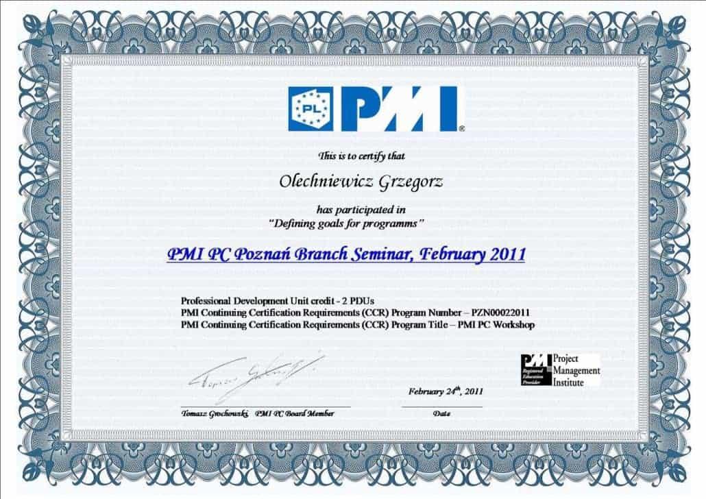Certyfikat PMI